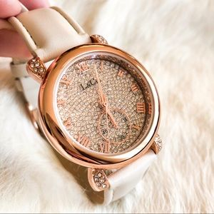L & Co. Timepieces - Gem Encrusted Rose Gold Watch